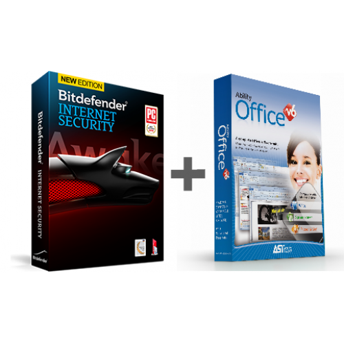 Bitdefender Internet Security 1-PC, 1-Year PLUS Ability Office