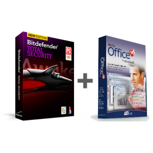 Bitdefender Total Security 3-PC, 1-Year PLUS Ability Office Professional